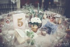 Ideas para decorar una boda en otoño Santa Margarita Catering Empordà centro de mesa