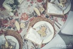 Ideas para decorar una boda en otoño Santa Margarita Catering Empordà hoja seating