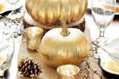 Ideas para decorar una boda en otoño calabazas doradas