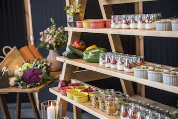 productos frescos en un catering Barcelona