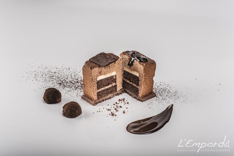Cubik de 3 chocolates con sablé de cacao
