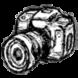 cámara de fotos con foco